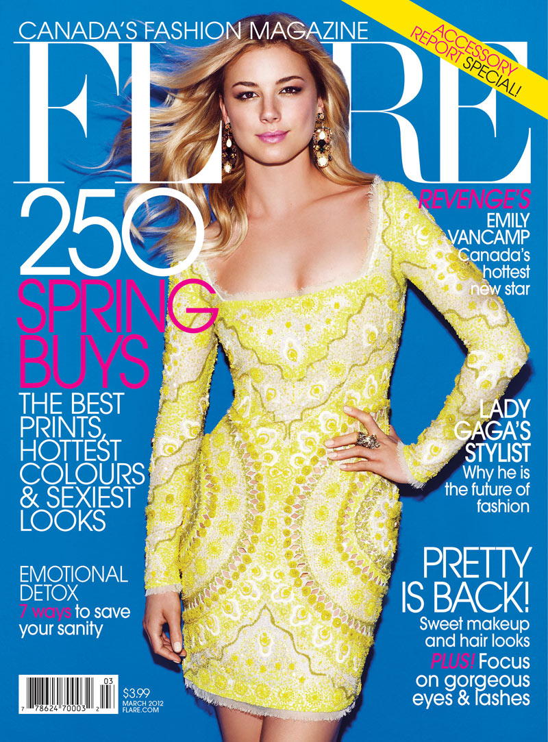 Flare March 2012 Cover | Emily VanCamp by Chris Nicholls