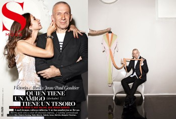 Jean Paul Gaultier & Victoria Abril by Stephane Gallos for <em>S Moda</em>