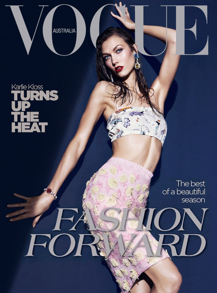 Vogue Australia March 2012 Cover | Karlie Kloss by Kai Z Feng