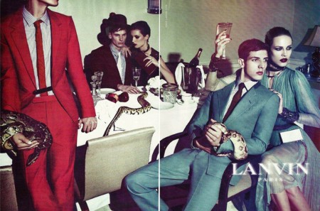 Aymeline Valade & Marte Mei van Haaster for Lanvin Spring 2012 Campaign by Steven Meisel