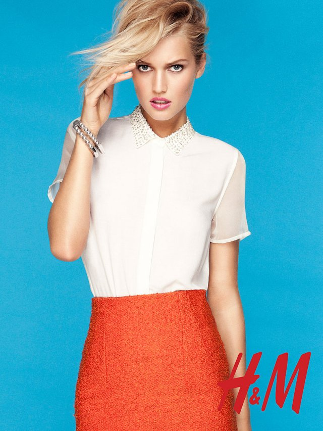 Toni Garrn for H&M Trend Update