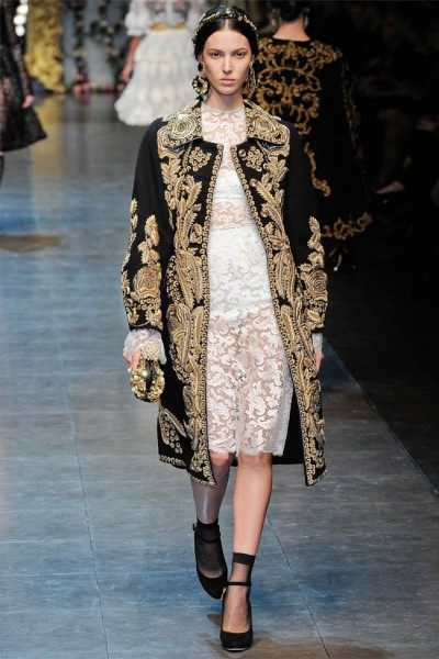 dolce gabbana11 400x600 Dolce & Gabbana Fall 2012 | Milan Fashion Week