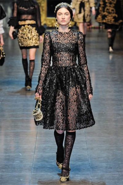 dolce gabbana12 400x600 Dolce & Gabbana Fall 2012 | Milan Fashion Week