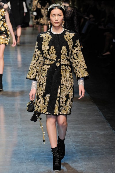 dolce gabbana14 400x600 Dolce & Gabbana Fall 2012 | Milan Fashion Week