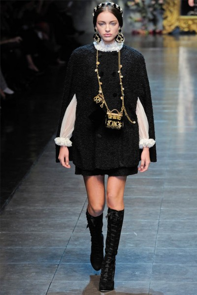 dolce gabbana18 400x600 Dolce & Gabbana Fall 2012 | Milan Fashion Week