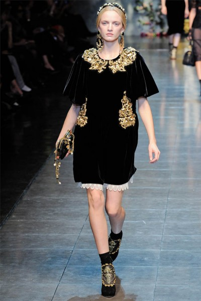 dolce gabbana3 400x600 Dolce & Gabbana Fall 2012 | Milan Fashion Week