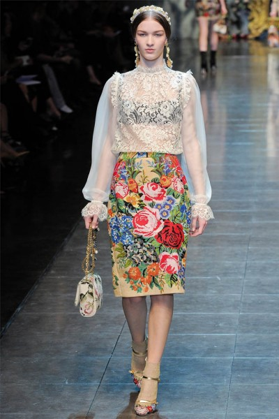 dolce gabbana39 400x600 Dolce & Gabbana Fall 2012 | Milan Fashion Week