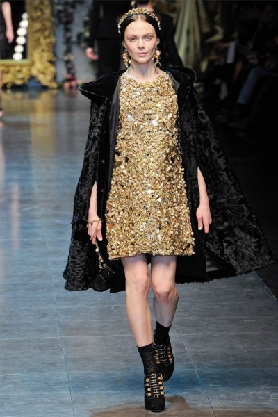 dolce gabbana58 400x600 Dolce & Gabbana Fall 2012 | Milan Fashion Week