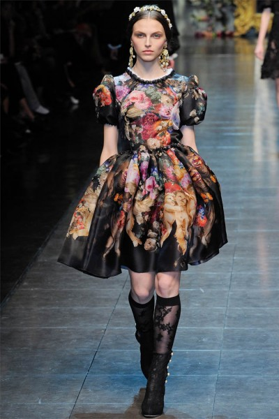 dolce gabbana59 400x600 Dolce & Gabbana Fall 2012 | Milan Fashion Week