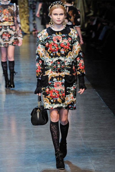 dolce gabbana64 400x600 Dolce & Gabbana Fall 2012 | Milan Fashion Week
