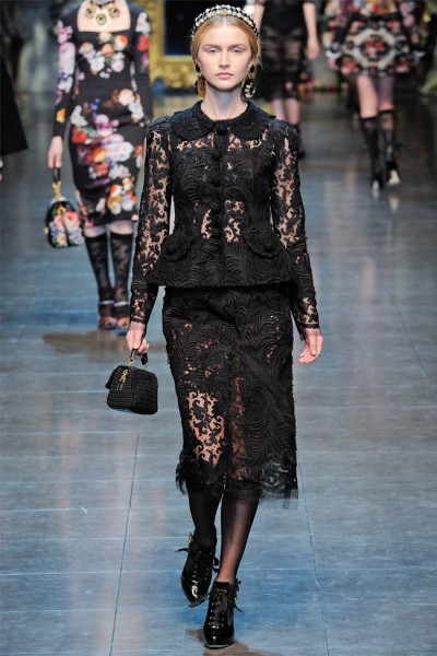 dolce gabbana68 400x600 Dolce & Gabbana Fall 2012 | Milan Fashion Week