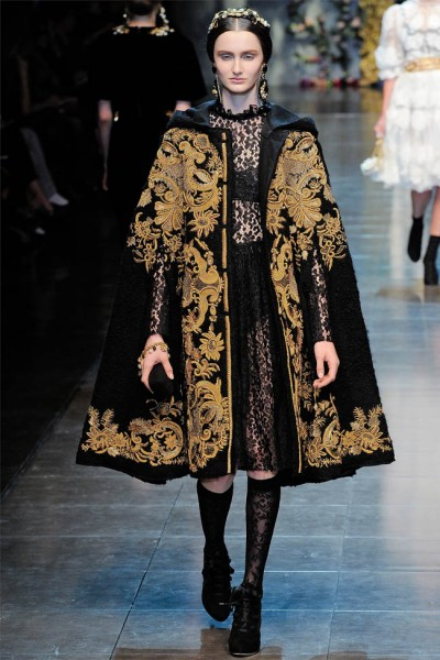dolce gabbana7 400x600 Dolce & Gabbana Fall 2012 | Milan Fashion Week