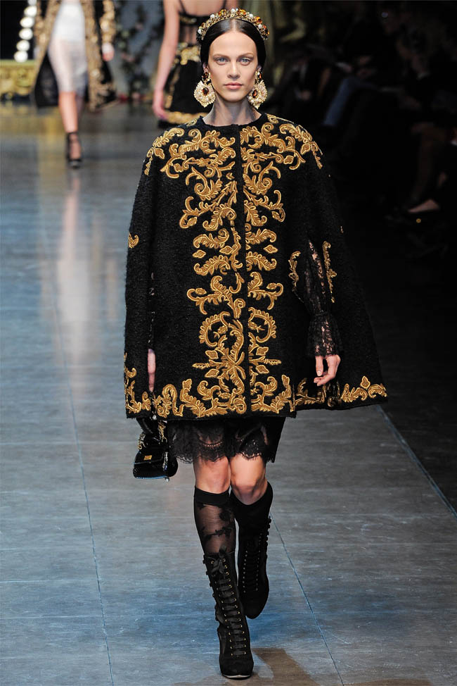 Dolce Amp Gabbana Fall 2012 Milan Fashion Week