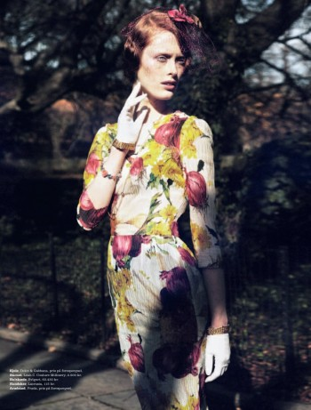 Ilva Heitmann by Oliver Stalmans for Elle Denmark March 2012