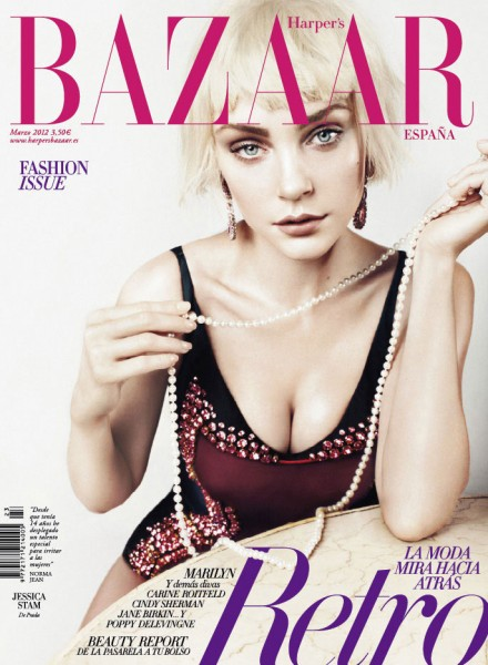 <em>Harper&#8217;s Bazaar Spain</em> March 2012 Cover | Jessica Stam by Txema Yeste