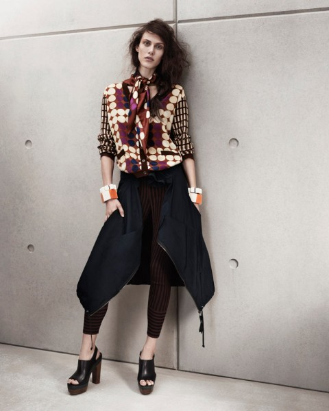 marni look2 480x600 Aymeline Valade for Marni x H&M Spring 2012 Lookbook