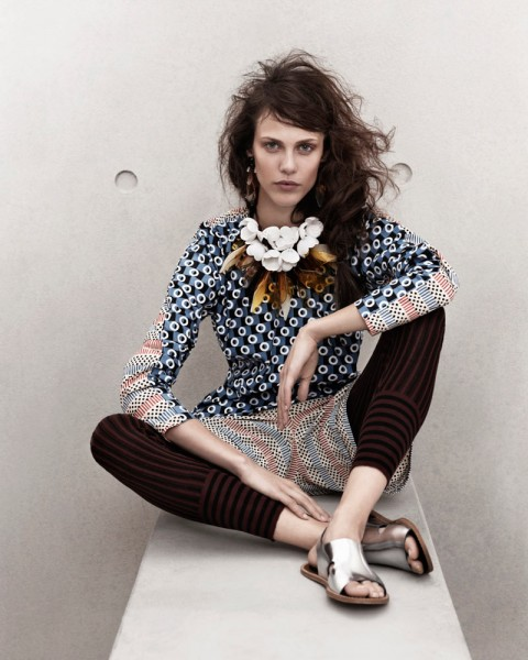 marni look5 480x600 Aymeline Valade for Marni x H&M Spring 2012 Lookbook