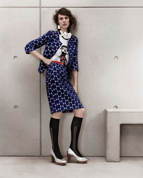 marni look6 480x600 Aymeline Valade for Marni x H&M Spring 2012 Lookbook