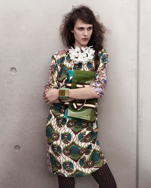 marni look9 480x600 Aymeline Valade for Marni x H&M Spring 2012 Lookbook