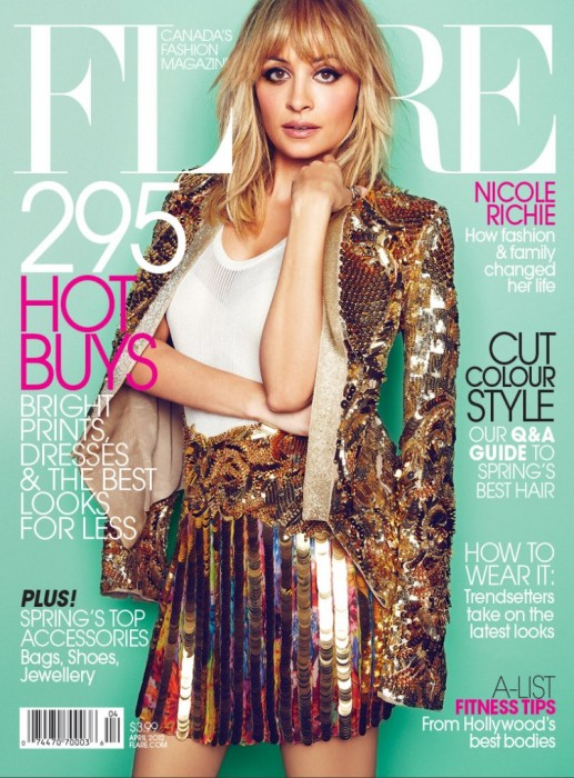 Flare April 2012 Cover | Nicole Richie by Max Abadian