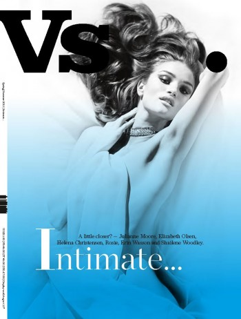 Rosie-Huntington Whiteley, Julianne Moore, Helena Christensen, Erin Wasson, Elizabeth Olsen & Shailene Woodley Cover Vs. Magazine S/S 2012