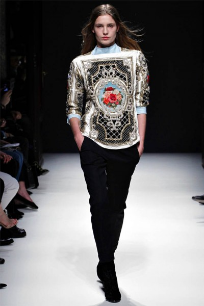 balmain1 400x600 Balmain Fall 2012 | Paris Fashion Week
