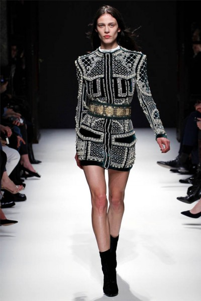 balmain28 400x600 Balmain Fall 2012 | Paris Fashion Week