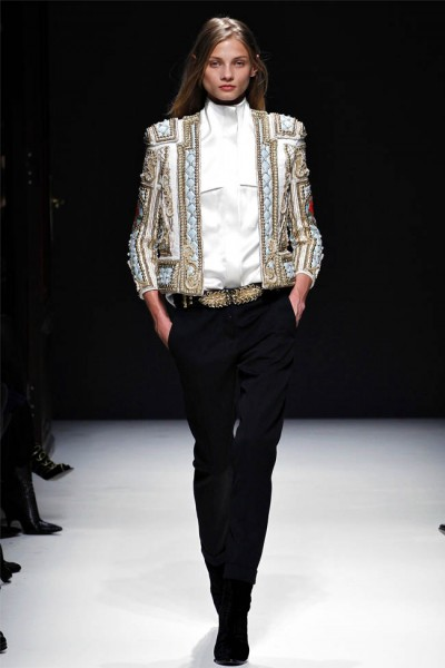 balmain6 400x600 Balmain Fall 2012 | Paris Fashion Week