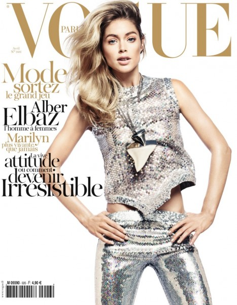 Vogue Paris April 2012 Cover | Doutzen Kroes by David Sims