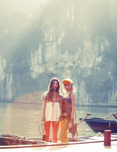 Martha Hunt & Michele Ouellet for Free People March Catalogue by Joshua Allen & Thomas Northcut