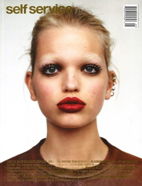 Self Service S/S 2012 Cover | Daphne Groeneveld by Alasdair McLellan