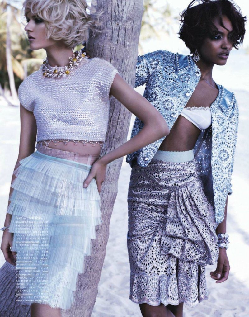 Jourdan Dunn & Daria Strokous by Josh Olins for Vogue Japan April 2012