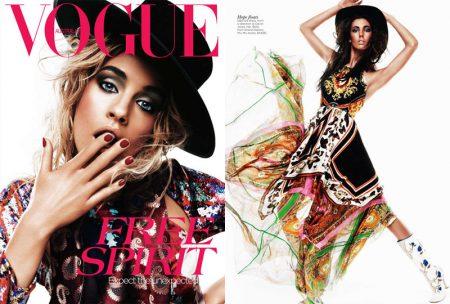 Julia Frauche & Ruby Aldridge by Kai Z Feng for Vogue Australia April 2012