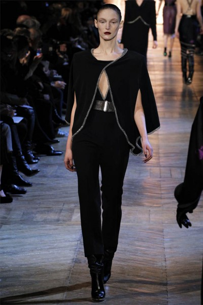 yves saint laurent28 400x600 Yves Saint Laurent Fall 2012 | Paris Fashion Week