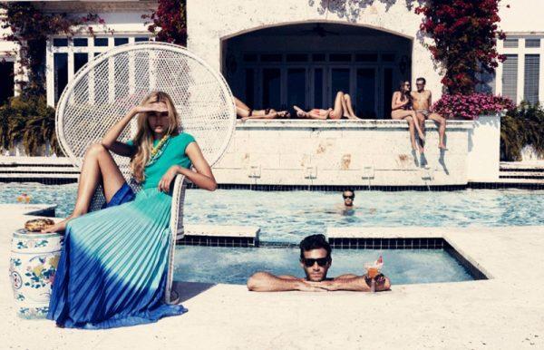 Valentina Zelyaeva's Chic Pool Party for Velvet June, Lensed by Marcus Ohlsson