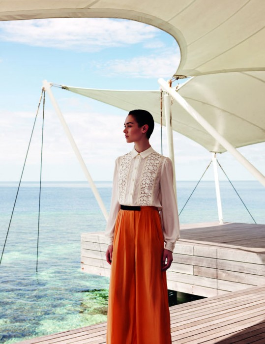 Caitlin Lomax Dons Tranquil Looks for Wee Khim's L'Officiel Singapore Shoot