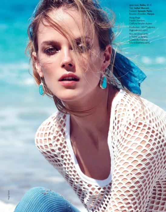 Shannan Click Dons Flirty Summer Looks for Elle France June 2012 by Nagi Sakai