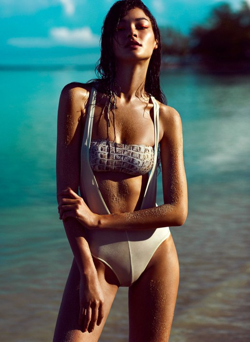 Bruna Tenorio is a Heat Seeker for Chris Nicholls' Flare July 2012 Shoot