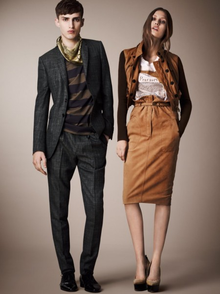 burberry resort16 450x600 Burberrys Resort 2013 Collection is Tailored for Ease