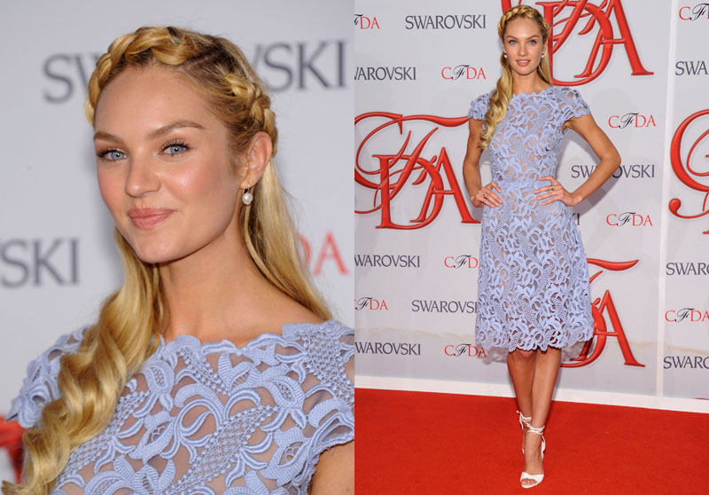 Candice Swanepoel Was Laced Up in Valentino at the 2012 CFDA Fashion Awards