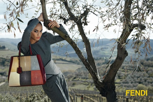 Joan Smalls Stars in Fendi's Fall 2012 Campaign by Karl Lagerfeld