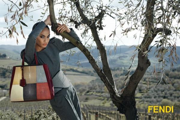 Joan Smalls Stars in Fendi's Fall 2012 Campaign by Karl Lagerfeld