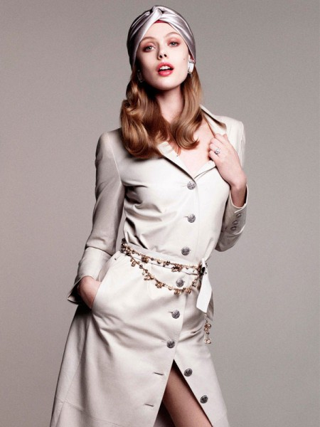 Frida Gustavsson Is Perfectly Ladylike in Vogue Japan August, Lensed by Victor Demarchelier