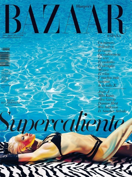 Hanaa Ben Abdesslem Covers Harper's Bazaar Spain's July/August 2012 in Agent Provocateur