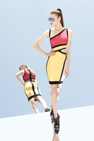 herve leger1 400x600 Herve Leger by Max Azrias Resort 2013 Collection is Comic Book Inspired