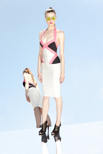 herve leger11 400x600 Herve Leger by Max Azrias Resort 2013 Collection is Comic Book Inspired