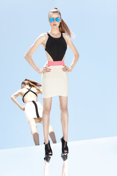 herve leger12 400x600 Herve Leger by Max Azrias Resort 2013 Collection is Comic Book Inspired