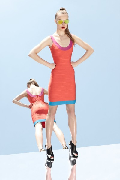 herve leger13 400x600 Herve Leger by Max Azrias Resort 2013 Collection is Comic Book Inspired