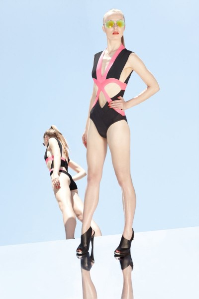 herve leger14 400x600 Herve Leger by Max Azrias Resort 2013 Collection is Comic Book Inspired