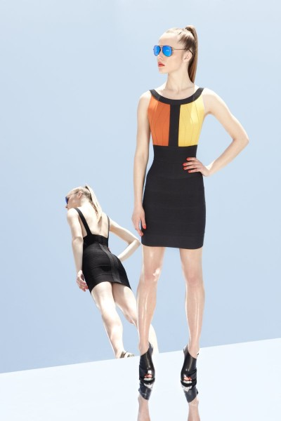 herve leger2 400x600 Herve Leger by Max Azrias Resort 2013 Collection is Comic Book Inspired